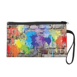 Colorful Street art Mural Graffiti Rainbow Bag Wristlet