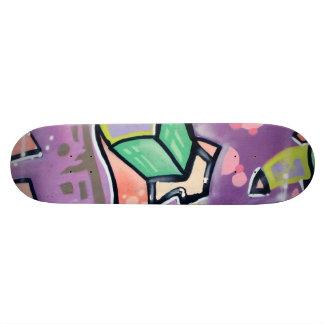 Colorful Street Art Purple 21.6 Cm Old School Skateboard Deck