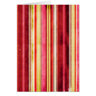 Colorful Stripe Pattern Yellow Green Pink Red Greeting Card