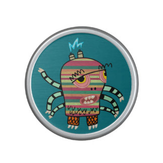 Colorful Striped Cartoon Monster with Six Arms Bluetooth Speaker
