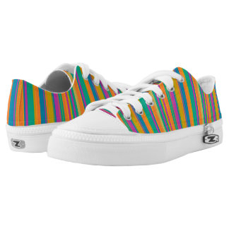 Colorful striped printed shoes