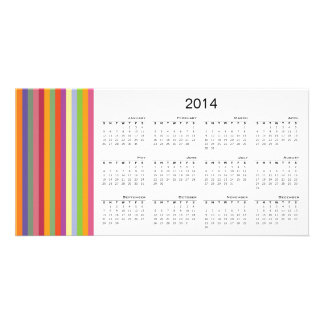 Colorful Stripes 2014 Calendar Photo Card
