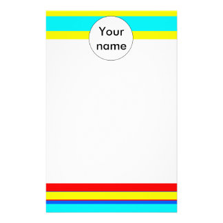 Colorful stripes abstract design stationery