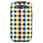 Colorful Stripes and Dots Samsung Galaxy SIII Case