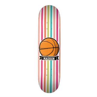 Colorful Stripes; Basketball 18.1 Cm Old School Skateboard Deck