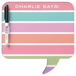 Colorful Stripes custom text message boards Dry-Erase Boards