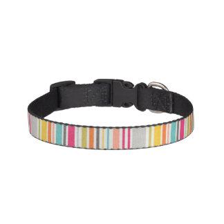 Colorful stripes design pet collar