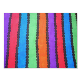 Colorful Stripes/Dots Poster