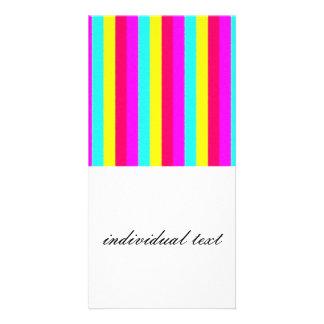 Colorful Stripes,glashy Photo Card