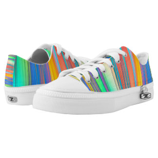 Colorful Stripes Low Top Shoes Printed Shoes