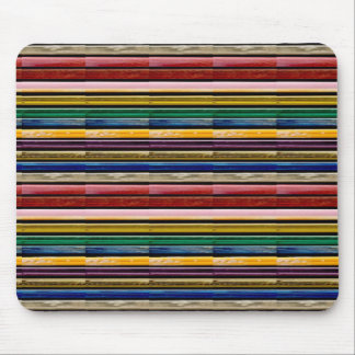 Colorful Stripes Mosiac TEMPLATE add TXT IMG gifts Mouse Pad