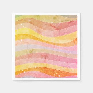 Colorful Stripes Paper Serviettes