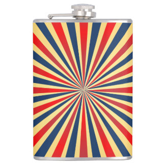 Colorful stripes pattern hip flask