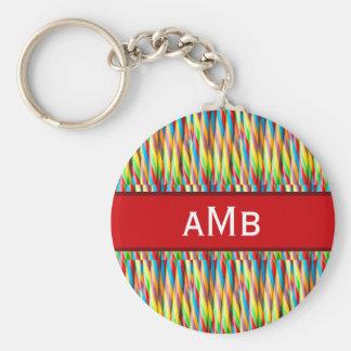 Colorful Stripes Pattern Key Ring