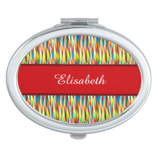 Colorful Stripes Pattern Makeup Mirror