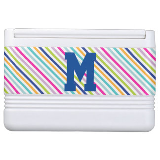 Colorful Stripes - Personalized Monogram Igloo Cool Box