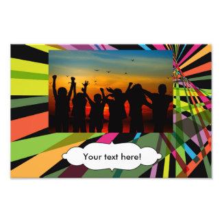 Colorful stripes photo art