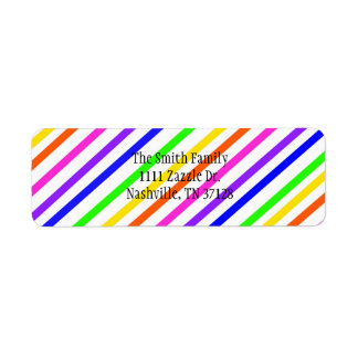 Colorful Stripes Return Address Label