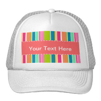 Colorful Stripes Striped Trucker Hat