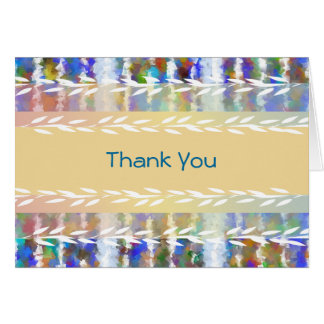 Colorful Stripes Thank You Greeting Card