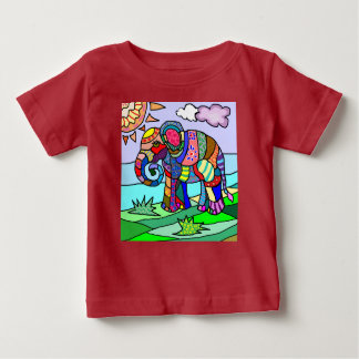Colorful stunningly beautiful elephant painting baby T-Shirt