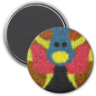 Colorful stylish art 7.5 cm round magnet