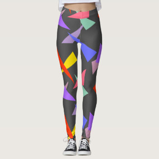 Colorful Stylish Modern Abstract Triangle Pattern Leggings