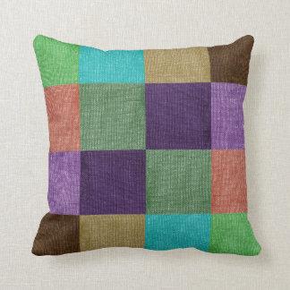 Colorful Stylish Patchwork Cushion