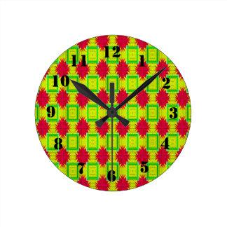 Colorful stylish pattern wallclock