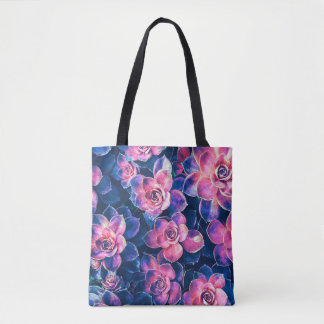 Colorful Succulent Plants Tote Bag
