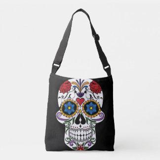 Colorful Sugar Skull All-Over-Print Cross Body Bag