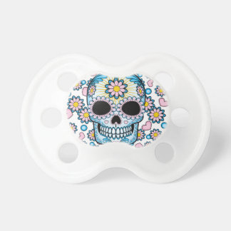 Colorful Sugar Skull Baby Pacifier