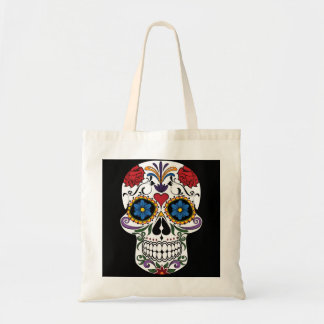 Colorful Sugar Skull Budget Tote Bag