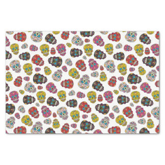 Colorful Sugar Skull Day of the Dead Print Tissue Paper