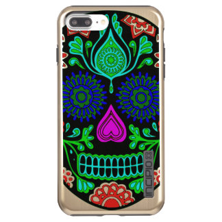 Colorful Sugar Skull Incipio DualPro Shine iPhone 7 Plus Case