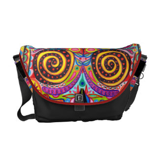 Colorful Sugar Skull Inspired Messenger Bag