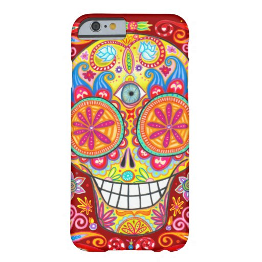 Colorful Sugar Skull iPhone 6 case by
