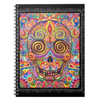 Colorful Sugar Skull Notebook Day of the Dead