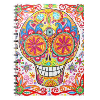 Colorful Sugar Skull Notebook / Journal