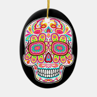 Colorful Sugar Skull Ornament - Day of the Dead