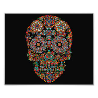 Colorful Sugar Skull Photo Print