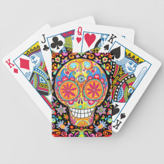Colorful Sugar Skull Playing Cards