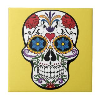 Colorful Sugar Skull Tile