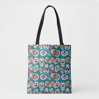 Colorful Sugar Skulls Pattern Tote Bag