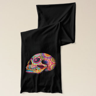 Colorful Sugar Skulls Scarf - Day of the Dead