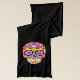 Colorful Sugar Skulls Scarf - Day of the Dead Art