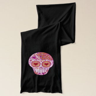 Colorful Sugar Skulls Scarf - Groovy Psychedelic!