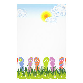 Colorful Summer Flip Flops Fun In The Sun Garden Customised Stationery
