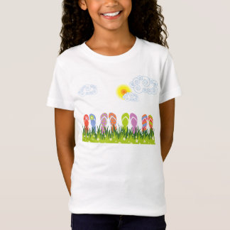Colorful Summer Flip Flops Fun In The Sun Garden T-Shirt