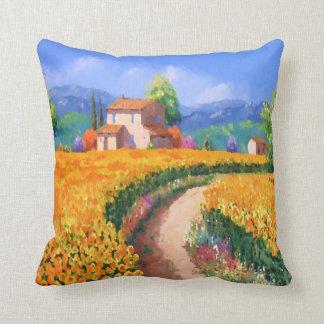 Colorful Summer Flowers La Provence France Cushion
